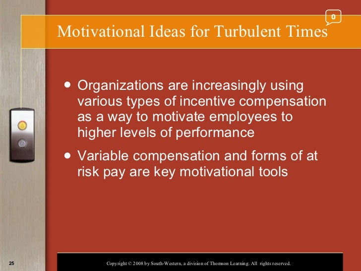 the key motivation factors used by different organizations to motivate employees Employee motivation and company performance therefore, there are three key factors relevant for a company's performance [2] • employee competencies for good performance responsible for motivating employees.