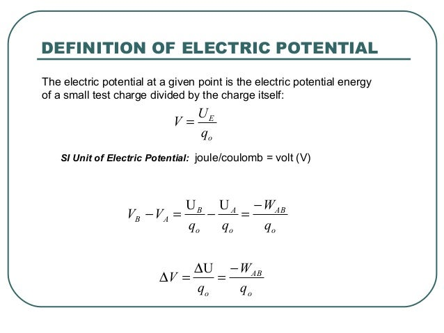 Voltage or Electric Potential Difference  electrical4ucom