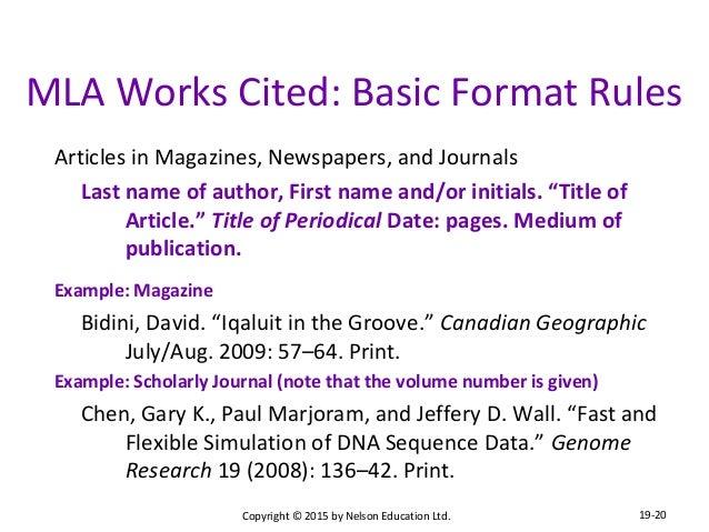 Mla works cited unpublished essay