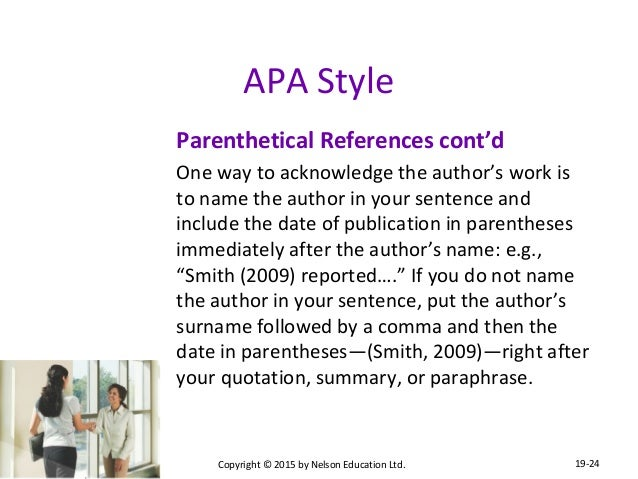 chapter essay essentials 24 apa style parenthetical references
