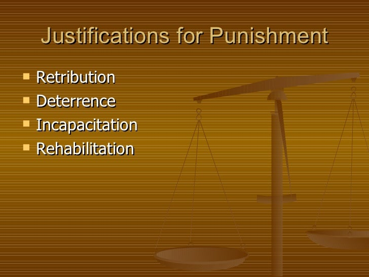 """crime and punishment compare retribution deterrence and rehabilitation Crime and punishment compare retribution deterrence and rehabilitation crime and punishment assignment oral presentation theories of punishment question - 'what form of punishment should lawmakers seek to develop in australia"""" introduction good morning class, today i will be talking to you about the 3 main forms of punishment and the form of punishment that lawmakers should seek to."""