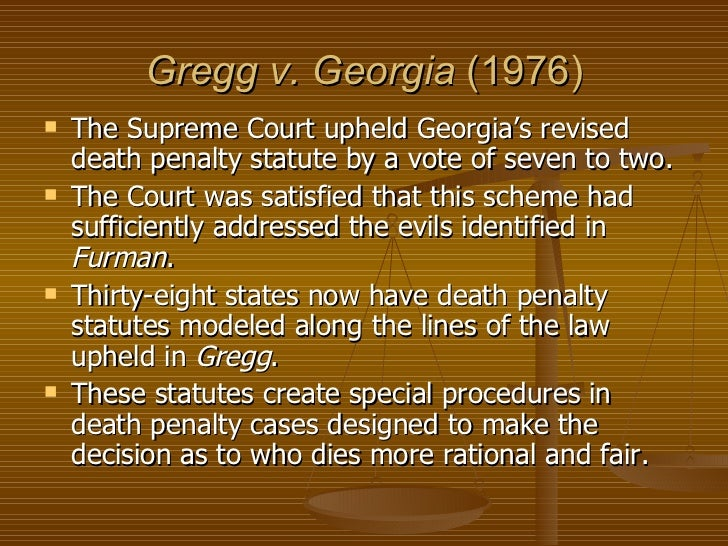 furman v georgia case essay The case that i was assigned is furman v in this report i will discuss three major areas of this case this case was held or argued january 17, 1972.