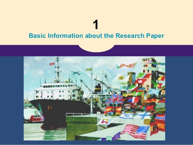 1 Basic Information about the Research Paper