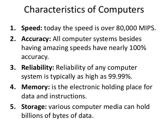 characteristics of a good computer While many of the specifications of a ram module aren't important in the day-to-day operation of your computer david ram characteristics small business.