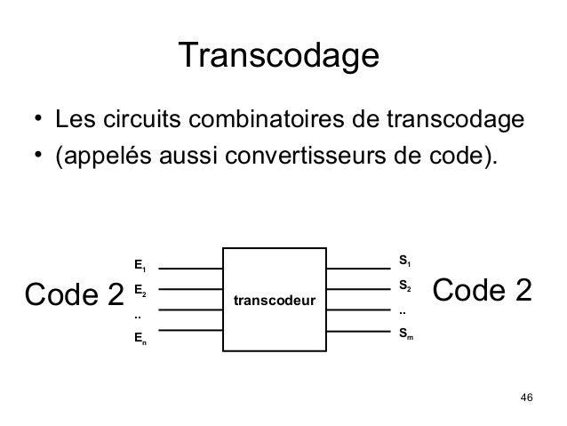 Circuits logiques combinatoire for Circuits combinatoires