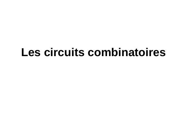 Ch1 circuits logiques p3 combi afficheur for Circuits combinatoires