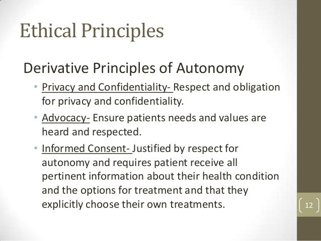 define the principles of autonomy fidelity and confidentiality Principle b: fidelity and responsibility  intervention does not violate any  confidentiality rights that  (c) psychologists explain any deception that is an in.