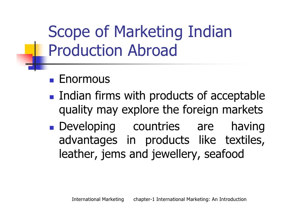 Advantages of entering india market marketing essay