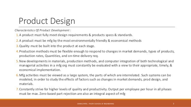 Product Design And Value Engineering Pdve Ch 1 Introduction