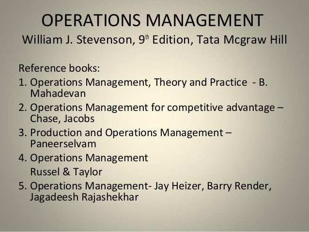 operations management mahadevan ebook free
