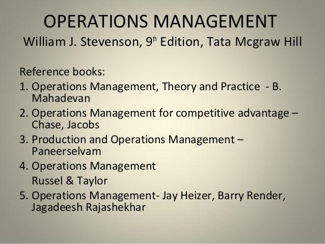 OPERATIONS MANAGEMENT MAHADEVAN PDF