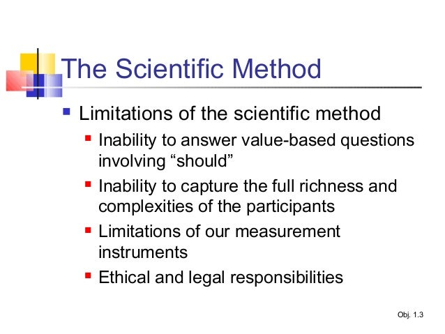 what are the limitations of scientific method