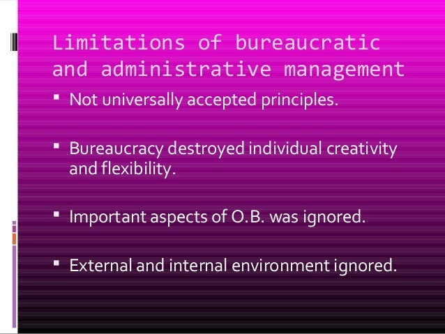 limitations on the classical school of management Classical and neoclassical approaches of management  the late 1950s academic writing about organizational structure was dominated by the classical management school.