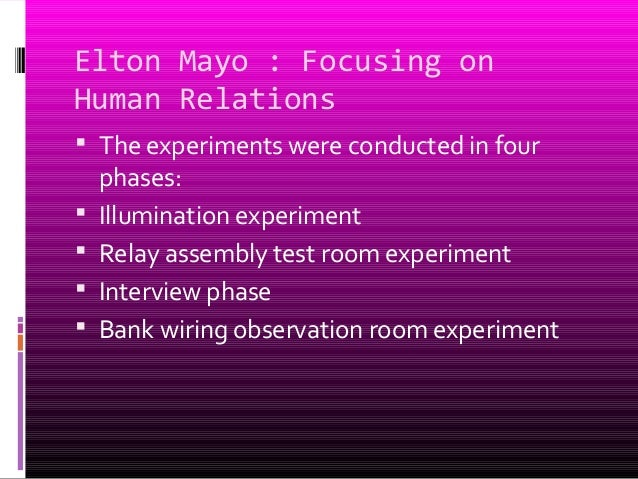 major contribution of elton mayo to administrative theory The behavioral management theory is often called the human relations  movement  elton mayo's contributions came as part of the hawthorne studies, a  series of  maslow grouped all physical needs necessary for maintaining basic  human.