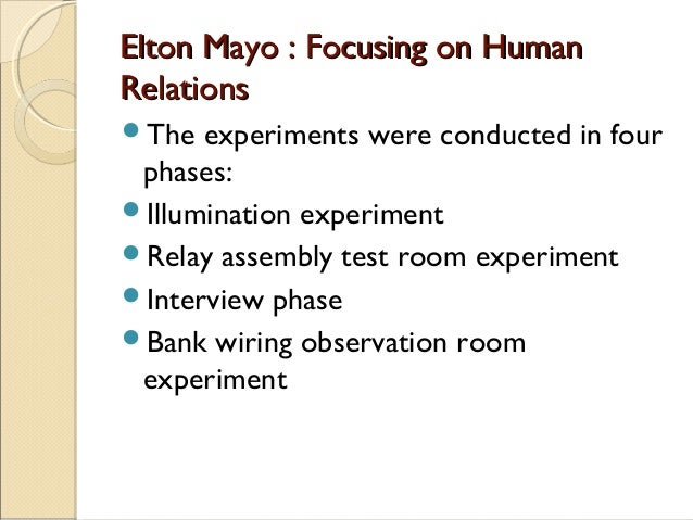 limitations of the hawthorne experiment Behavioral perspectives the hawthorne studies used the scientific method and are considered to be a part of the behavioral-science in the experiment room.