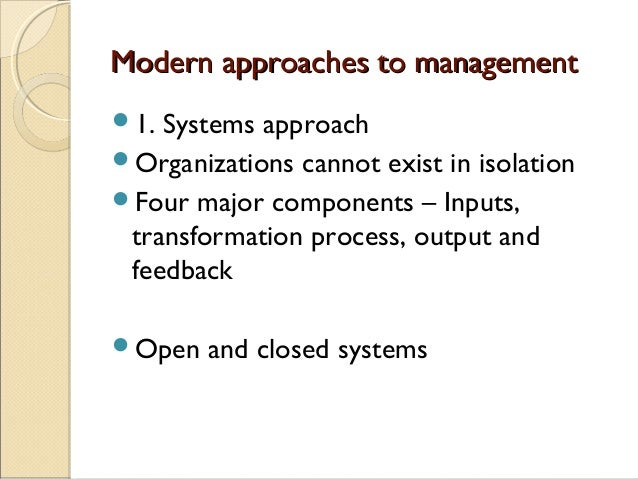 Modern Approach To Classroom Management ~ Evolution of management thought
