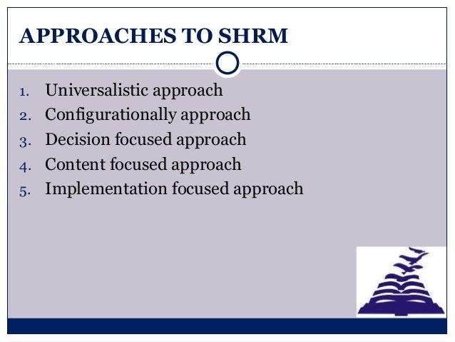 universalistic approach