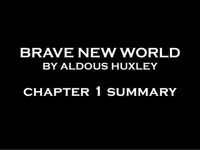 a brave new world summary pdf