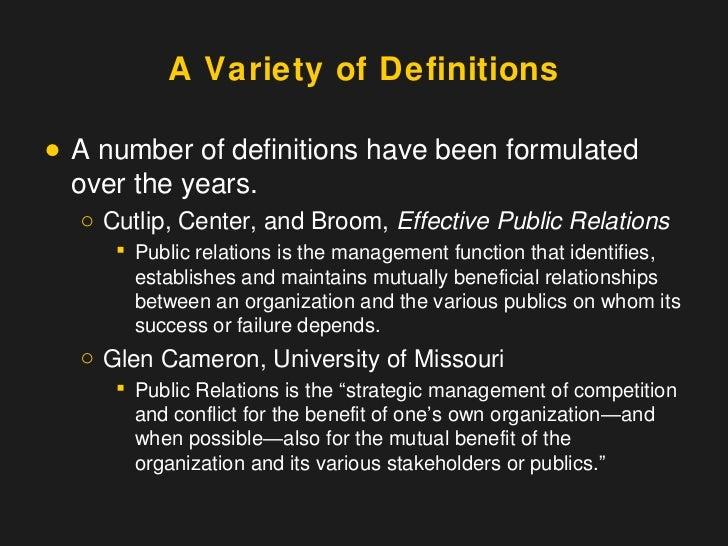 effective public relations broom pdf