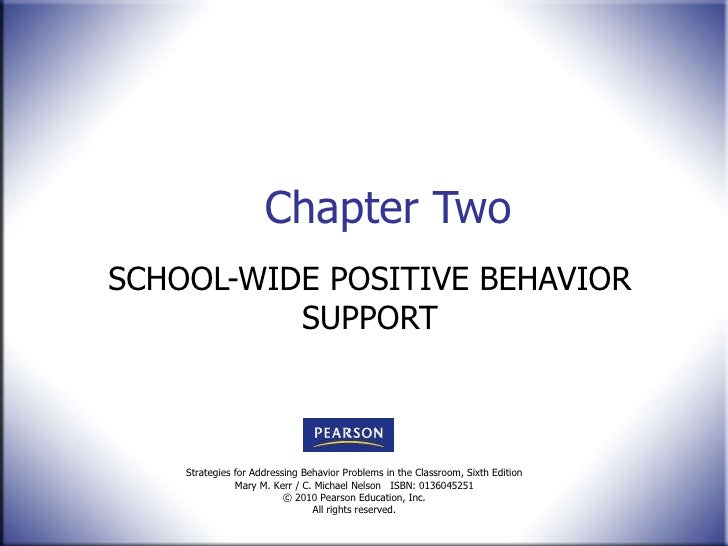 Chapter Two SCHOOL-WIDE POSITIVE BEHAVIOR SUPPORT