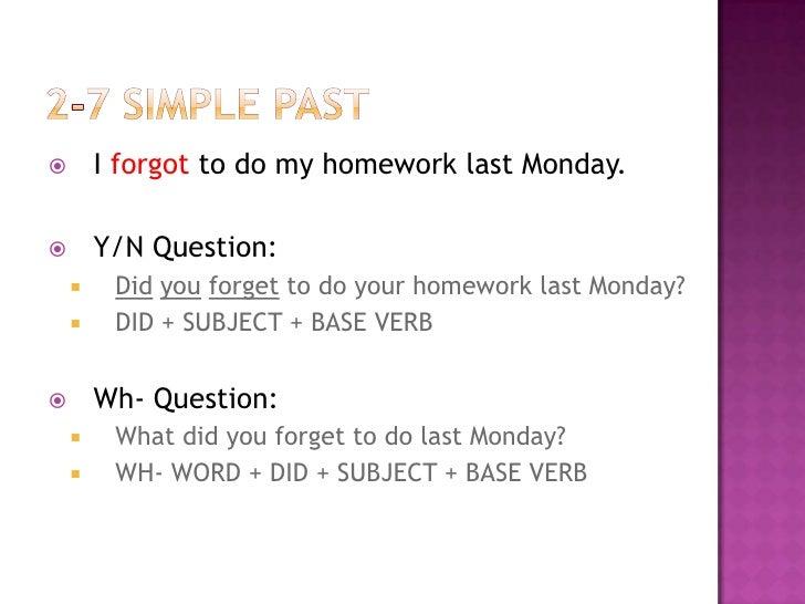 i forgot to do my geography homework yesterday
