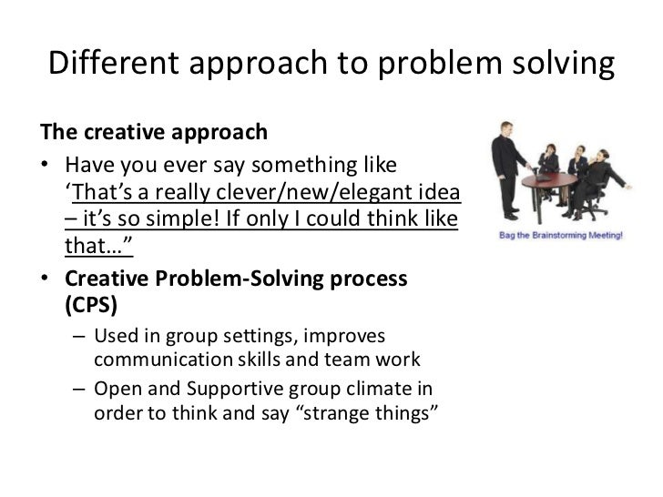the problem solving approach