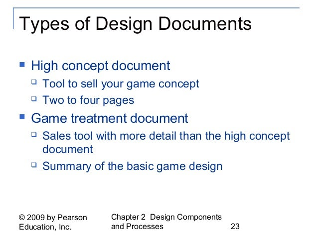 Fundamentals Of Game Design Ch - High concept document game design