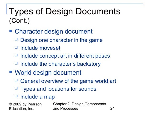 Fundamentals Of Game Design Ch - Art design document