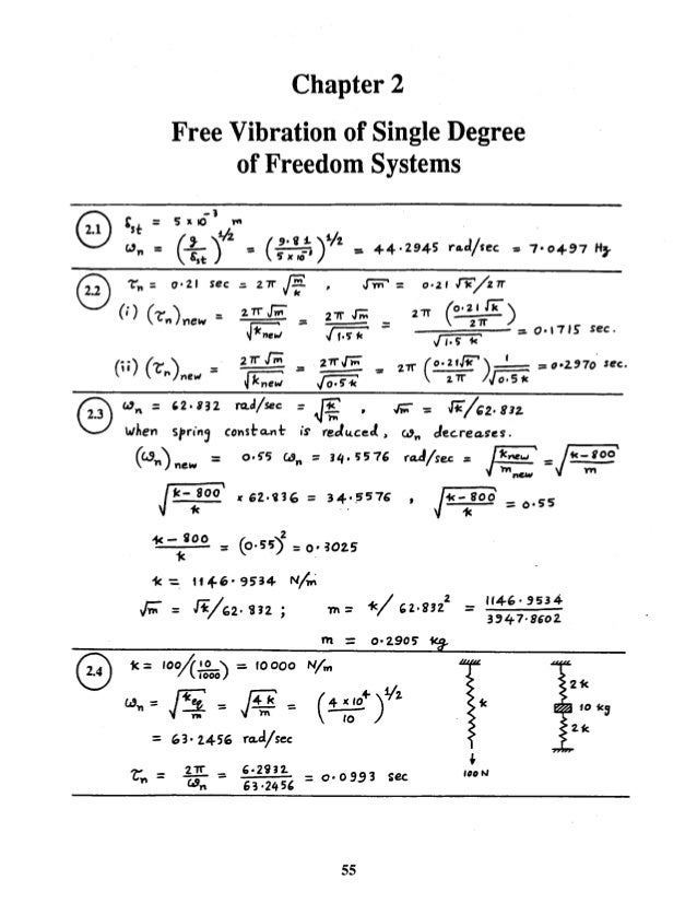 Mechanical vibrations by ss rao 4th edition solution manual chapter 02 chapter 2 free vibration of single degree of freedom systems 8 50 fandeluxe Gallery