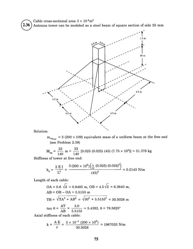 mechanical vibrations kelly solution manual