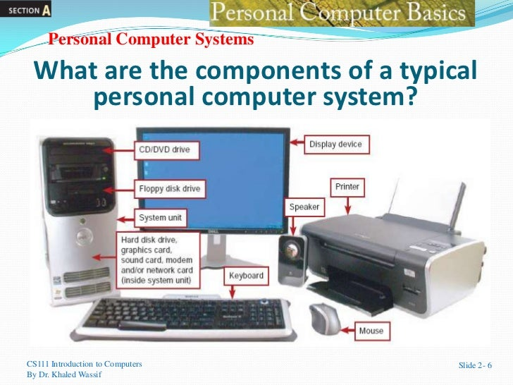 parts of a personal computer Core pc components - pc parts include the cpu, memory, operating system, hard disk, motherboard, power supply and more explore pc parts found in your desktop computer.