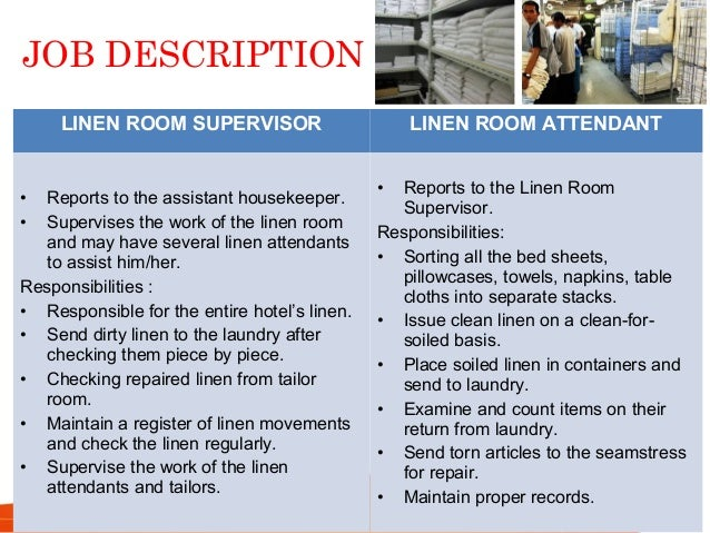 Housekeeping Operation Roles And Functions Of Housekeeping Personnel