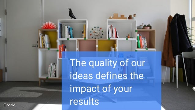 The quality of our ideas defines the impact of your results