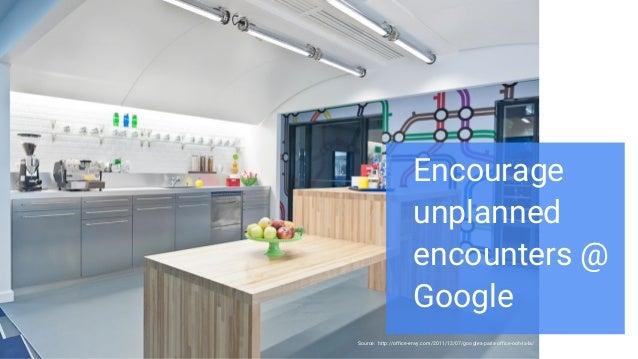 Source: http://office-envy.com/2011/12/07/googles-paris-office-ooh-la-la/ Proprietary + Confidential Encourage unplanned e...