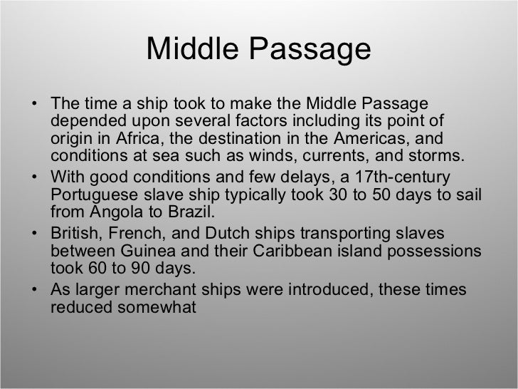 ap world atlantic slave trade middle passage