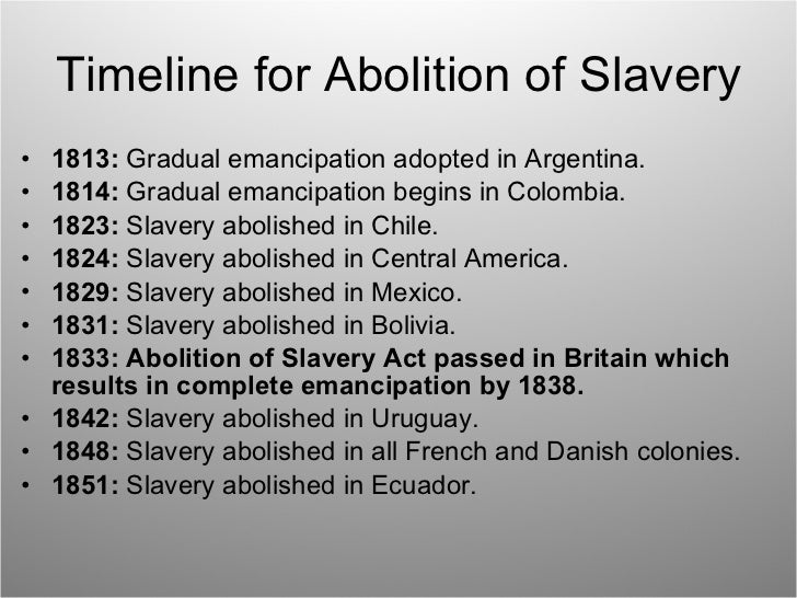 why was slavery abolished essay