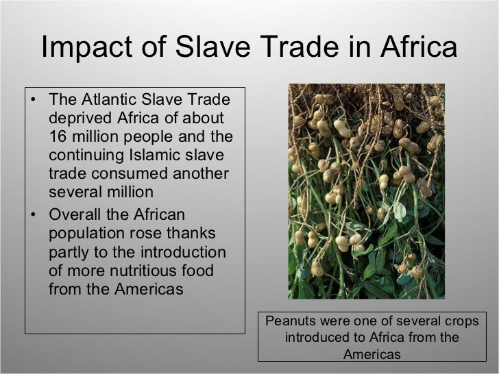 the history and impact of the atlantic slave trade The significance ofthe atlantic slave trade for african history has been the  subject of considerable discussion among historians and merits attempts from.