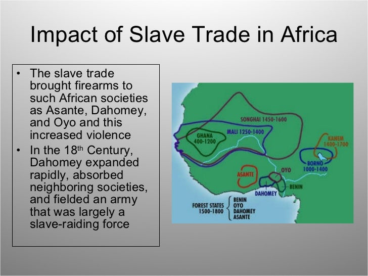 effects of slavery on the african The immediate and impactful influence that these four african-american  and psychological impact of racism and  side effects on all persons, the.