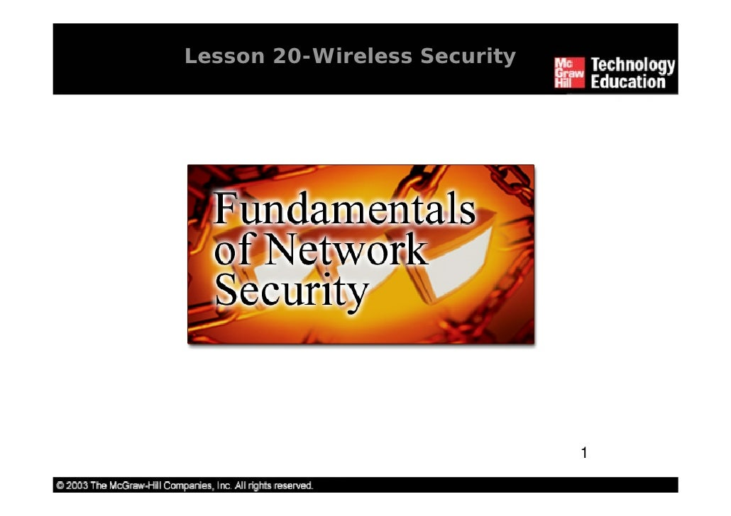 Lesson 20-Wireless Security                                   1