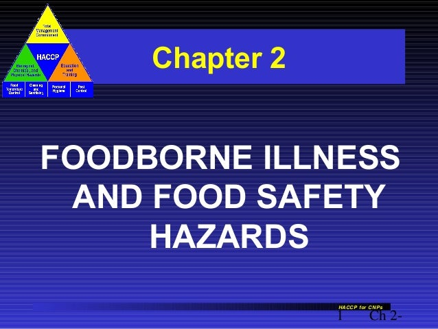 Chapter 2  FOODBORNE ILLNESS AND FOOD SAFETY HAZARDS HACCP for CNPs  1  Ch 2-