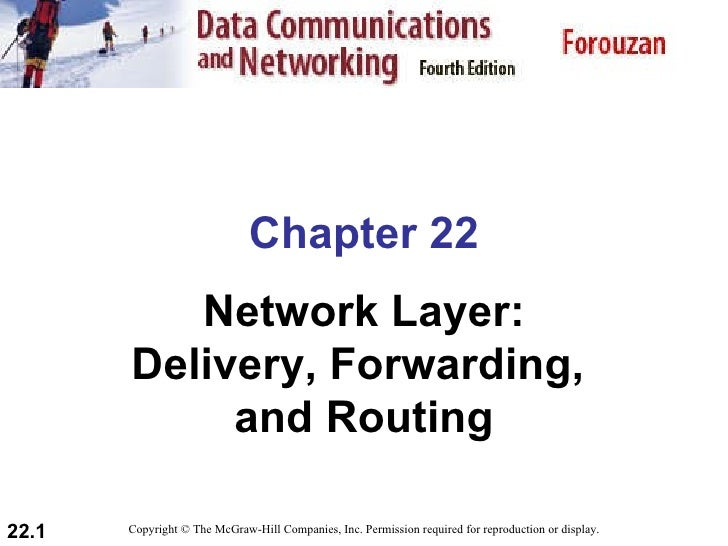 Chapter 22 Network Layer: Delivery, Forwarding,  and Routing Copyright © The McGraw-Hill Companies, Inc. Permission requir...
