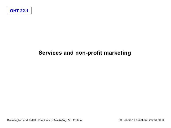 Services and non-profit marketing