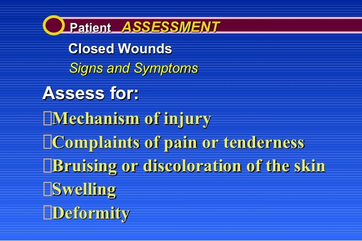 wounds open and closed notes summary A summary of boyle's law and the manometer in 's next boyle added mercury to the open end of his manometer the volume of the gas at the closed end of the.