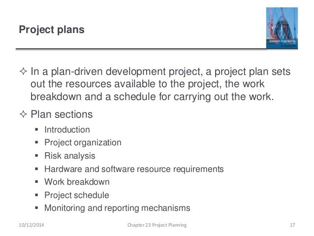 software development project plans