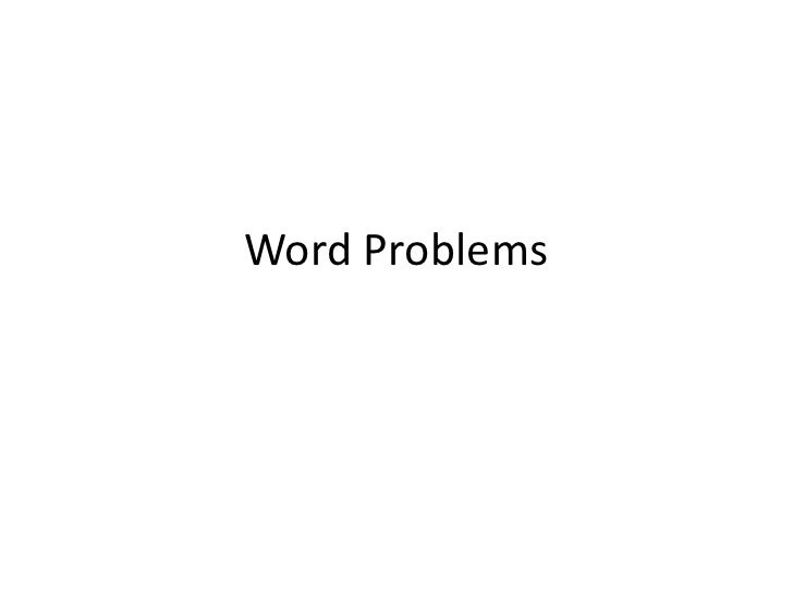 Word Problems<br />