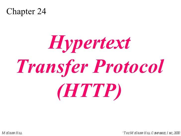 Chapter 24 Hypertext Transfer Protocol (HTTP)