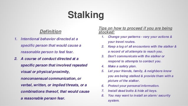 Define stalking behavior