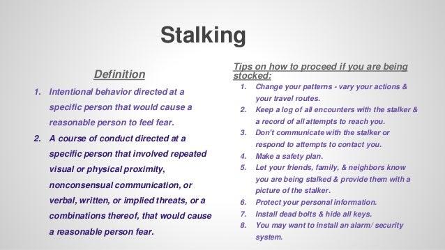 Define stalking behavior