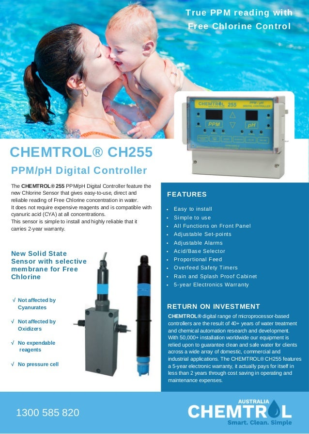 ch255 ppm ph digital controllerThe Chemtrolr 255 Ppm Ph Digital Controller Automatically Maintains #16