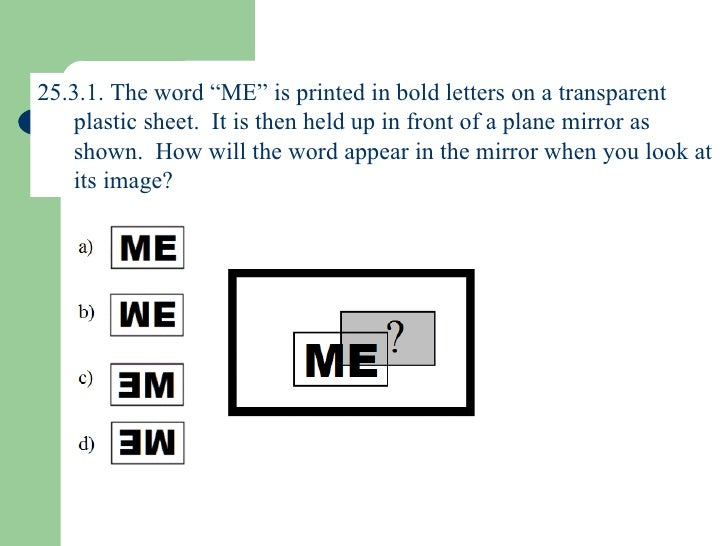 mirror image in word